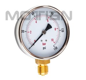 4 Inch General with Chrome-Plated Case Pressure Gauge