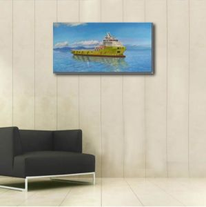 Canvas Oil Painting of Shipping Boat pictures & photos