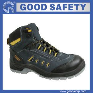 Nubuck Leather Safety Shoes with Clear PU Sole (GSI-1047)