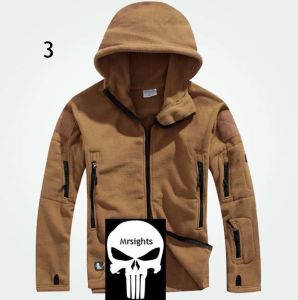 Hot Tad Men′s Outdoor Hunting Camping Fleeces Coats Jacket Hoody Coffee