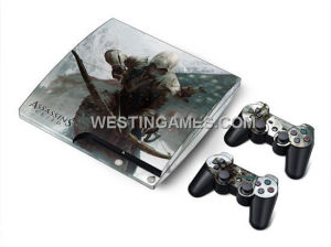 China Crystal Epoxy Skin Sticker Colourful for PS3 Slim