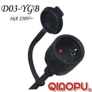 European Standard IP44 Waterproof Extention Cord (D03-YGB)