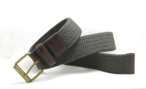 Classic Cotton Webbing Braided PU Fashion Belt Cky0315 pictures & photos