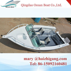 5.0m 17FT Runabout Aluminum Sport Fisherman Lesisure Open Boat Boat with Outboard Motor