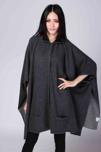 Ladies′ Fashion Cashmere Poncho (1500008073) pictures & photos