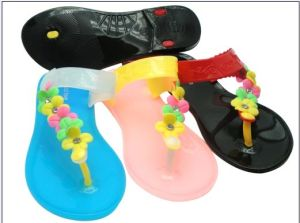 PVC Flip Flops for Girls pictures & photos