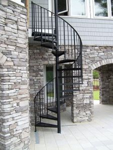 Prefabricated Outdoor Wrought Iron Used Metal Spiral Staircase