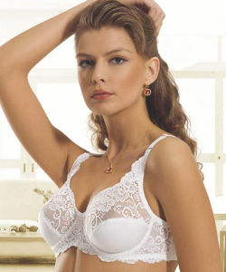 3dc83a0e7af4 White Lace Bra Lingerie with Embroidery/Stunning Lace Bra Underwear Set