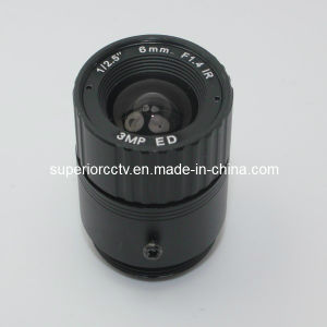 "New 1/2.5"" Inch 3.0mega Pixel 6mm Fixed Iris CCTV Lens (SP0612FIR3MP)"