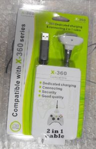 2 in 1 Charging & Connecting Cable for xBox360