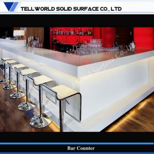 Artificial Stone Modern Commercial Wine Bar Counter Design (TW-MACT-031) pictures & photos
