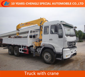 HOWO 6X4 266HP Truck with Straight Boom Crane pictures & photos