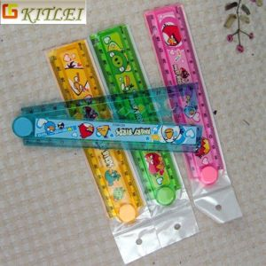 Free Shipping Plastic Cartoon Folding Ruler Set with PVC Bag Packing