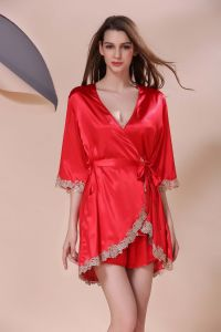 a7bc66a1cb Sexy Lingerie Ladies Sleepwear Nightwear Women Silk Pajamas Robes Sy10308681