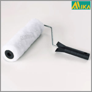 White 15mm High Pile Polyester Hermal Bonding Paint Roller with Handle