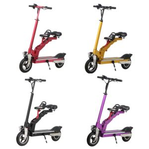 Electric Battery Powered Foldable Bike with Two Seats