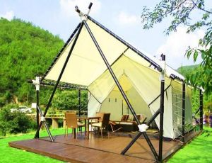 Waterproof Canvas Outdoor Luxury Safari Tent & China Waterproof Canvas Outdoor Luxury Safari Tent - China Glamping ...