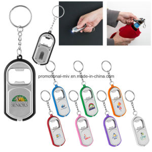 Functional Bottle Opener Keychains with LED Flashlight for Promotional Gifts pictures & photos
