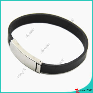 Stainless Steel Clasp Genuine Leather Bracelet (LB)
