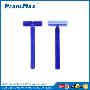 Hot Selling Cheap Plastic Handle Twin Blades Stainless Steel Material Disposable Razor pictures & photos