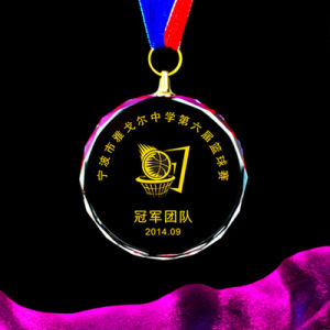 60mm 70mm 80mm Clear Glass Medal, Crystal Medallion pictures & photos