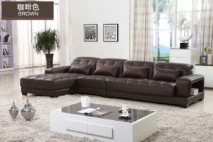 Low Price Geniune Cow Leather L Shape Leather Sofa pictures & photos