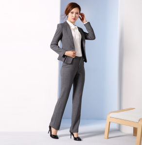 Made to Measure Fashion Stylish Office Lady Formal Suit Slim Fit Pencil Pants Pencil Skirt Suit L51616 pictures & photos