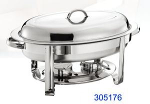 Oval Stainless Steel Chafing Dish with 5.5L Food Pan (305176) pictures & photos