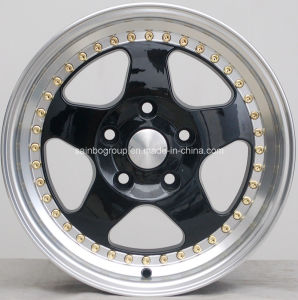 Black Machine Lip Auto Alloy Wheel (15 inch) pictures & photos