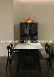 Japanese Style Wooden Marble Table (E-34) pictures & photos