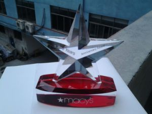 Business Gifts Hand Made Five Star Custom Crystal Trophy pictures & photos