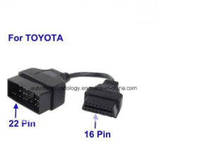for Toyota 22pin to 16pin OBD1 to OBD2 Connect Cable