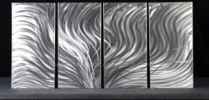 Beautiful Silver Panel Metal Wall Art, Silver Plumage pictures & photos