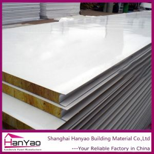 Heat Insulation 50mm/75mm/100mm/150mm/200mm Rock Wool Sandwich Panel Fireproof Decorative Panels pictures & photos