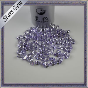 Oval Brilliant Diamond Cut Lavender Color American Diamond CZ pictures & photos