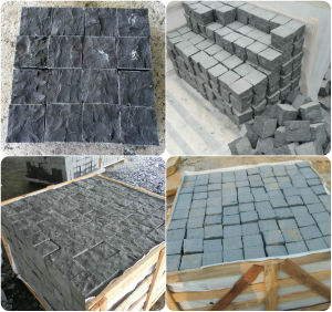 Natural Black Basalt/Slate/Tumbled/Sandstone/Porphyr/Granite Stone Pavement/ Cubes/Blind/Paver Stone/Paving Stone