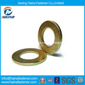Yellow Zinc Plated Carbon Steel Flat Washer DIN125 pictures & photos