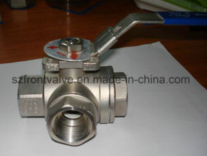 Stainless Steel Three Way Threaded Ball Valves pictures & photos