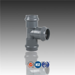 PVC Pipe Fitting Equal Elbow Tee with Rubber Ring pictures & photos