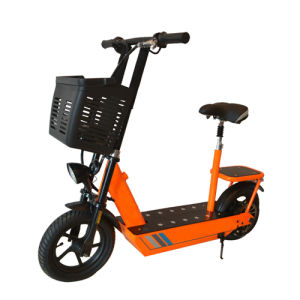 Foldable 250W Adult Electric Motorcycle with Seat pictures & photos