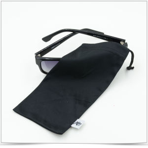 Microfiber Drawstring Sunglasses Pouch with Label pictures & photos