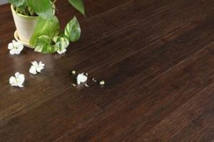 Solid Bamboo Flooring Coffee Color Smooth pictures & photos