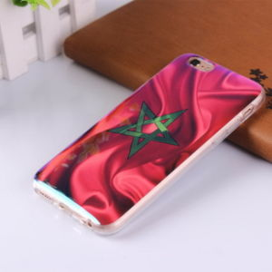 for iPhone Samsung Custom Metallic Reflection Pattern Cover Mobile Phone Case pictures & photos