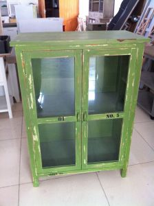 Antique Green Cabinet with 2 Doors (FCJ04143)