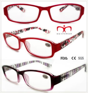 Ladies Plastic Reading Glasses with Colorful Painting (WRP508334) pictures & photos