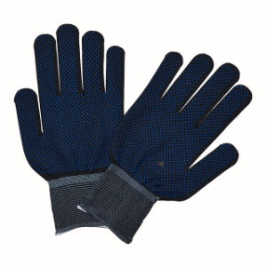PVC Dotted Gloves Points Cotton Hand Protective Gloves pictures & photos
