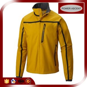 2016 Mens Yellow Heat-Sealed Waterproof Jacket with PU Coating pictures & photos