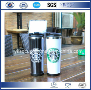 Double Wall Insulated Starbucks Stainless Steel Coffee Mug Travel Mug With Paper Insert