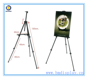 Folding Metal Black Tripod Easel Display Stand, X Frame Stand