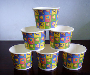 Eco-Friendly Ice Cream Paper Cup, Usage: Cold Drink, Ice-Cream Ect pictures & photos